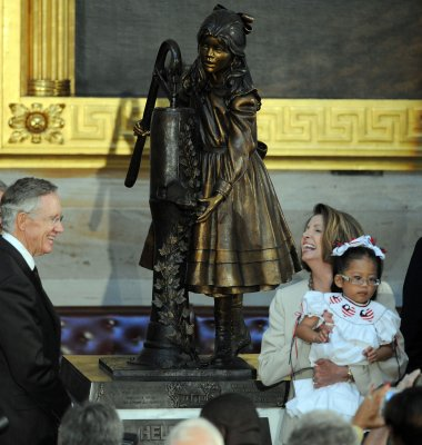 Helen Keller statue unveiled