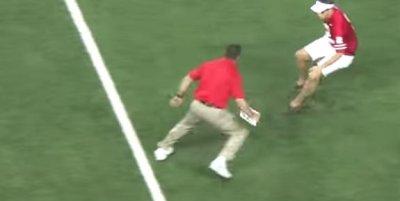 Ohio State strength coach body slams fan who runs on field
