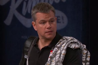 Matt Damon appears as George Clooney's nanny on 'Jimmy Kimmel Live'