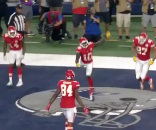 Kansas City Chiefs have a potato sack race touchdown celebration