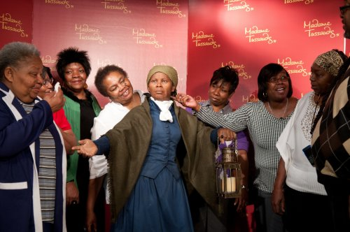 Tubman's family attends Tussauds unveiling