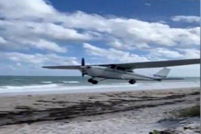 Small plane makes emergency landing on Florida beach