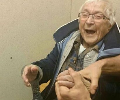 Nearly 100-year-old woman 'arrested' to fulfill bucket list item