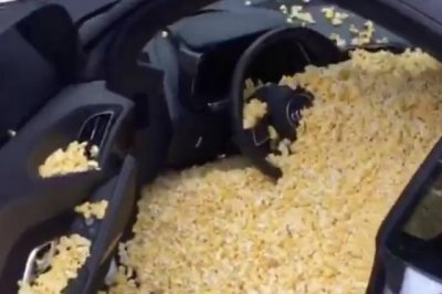 Trae Young gets car filled with popcorn for rookie prank