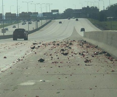 Truck spills watermelons onto Nebraska highway