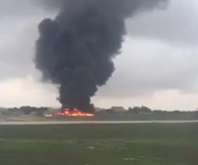 Plane crash at Luqa, Malta, airport kills five