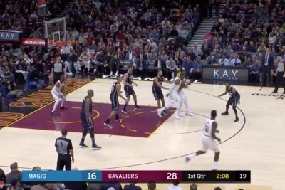 LeBron James completes behind-the-back, between-the-legs pass