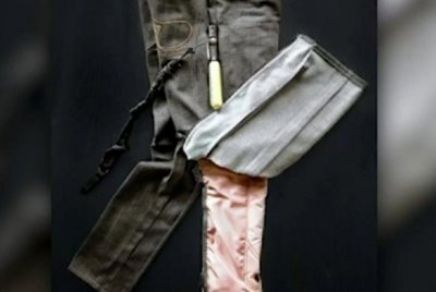 Inventor unveils airbag jeans to protect motorcyclists in crashes