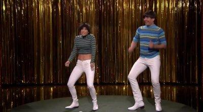 Jimmy Fallon, Jennifer Lopez dance in tight white pants on 'Tonight Show'