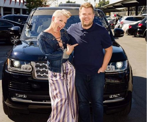 Pink teases upcoming appearance on Carpool Karaoke with James Corden