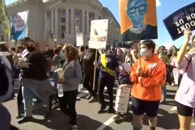 Women's-marches-protest-Supreme-Court-nominee-Amy-Coney-Barrett