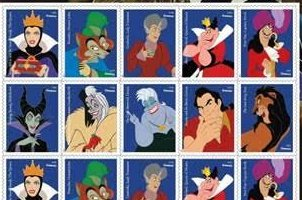Disney villains celebrated on Forever Stamps