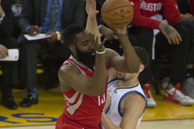James Harden, Houston Rockets spoil Golden State Warriors' celebration