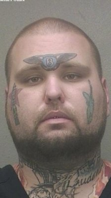 Man with Bentley face tattoo convicted of ID theft