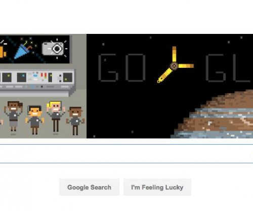 Google celebrates NASA's Juno probe reaching Jupiter with new Doodle