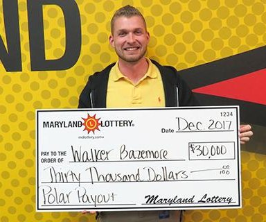 Lottery rookie's birthday present turns out to be worth $30,000