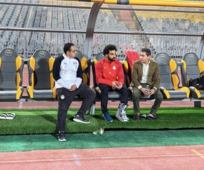 Liverpool soccer star Mohamed Salah out for Egypt, in walking boot