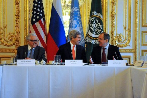Secretary Kerry spars with Russian and UN officials over Iran participation at Syria talks