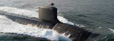 Shipbuilder joins hull sections of new U.S. Navy submarine