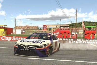 Denny Hamlin wins NASCAR iRacing finale at North Wilkesboro