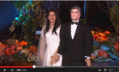 Ellen DeGeneres goes as Amal Alamuddin for Halloween