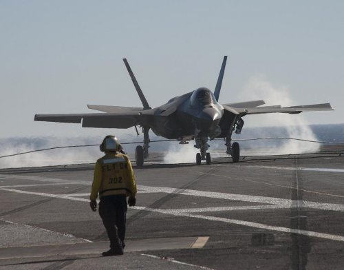 F-35Cs complete initial testing from aircraft carrier