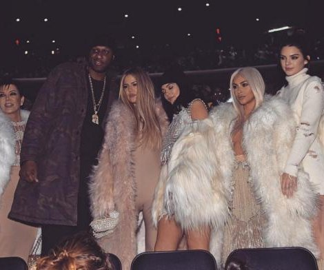 Lamar Odom resurfaces at Kanye West's fashion show