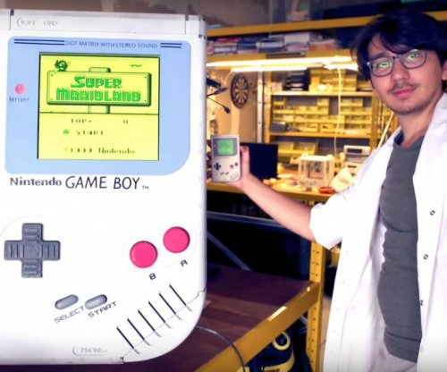Belgian student builds world's largest working Game Boy