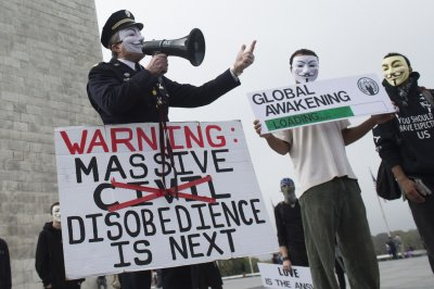 Three involved in Million Mask March protest arrested near White House, FBI, Trump hotel