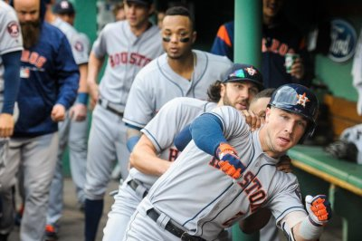 Houston Astros debut bobsled celebration after Alex Bregman bomb