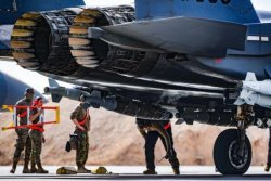 F-15E fighter planes deliver munitions to UAE