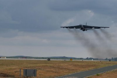 B-52H bombers fly over the Arctic from Spain to Louisiana