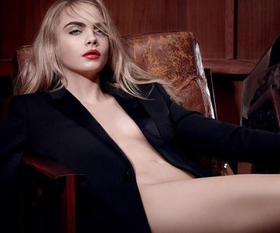 Cara Delevingne goes nearly nude for YSL