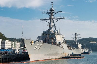 U.S. destroyer, cargo ship pass through Taiwan Strait