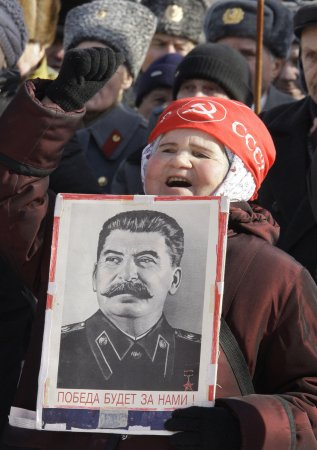 Stalin inscription angers survivors