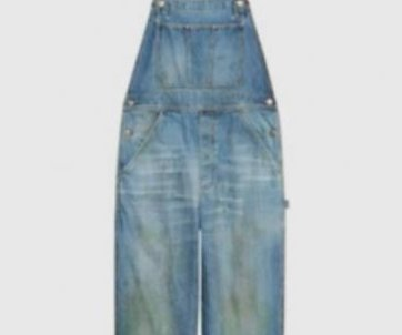 Gucci's pre-stained denim overalls raise eyebrows online