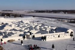 World's largest snow maze nearly doubles in size