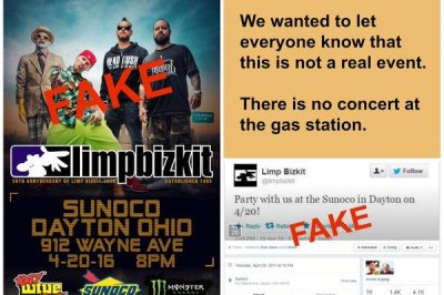 Police: No Limp Bizkit concert planned for Ohio gas station