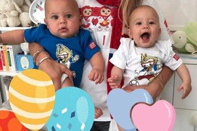 Anna Kournikova watches World Cup game with her twins