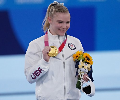 Gymnast Jade Carey wins gold for Team USA in floor exercise