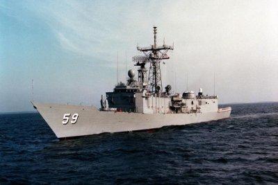 U.S. Navy decommissions frigate USS Kauffman