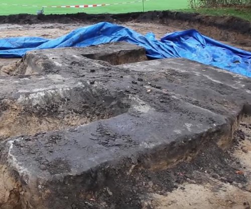 Giant swastika, part of old Nazi monument, unearthed in Germany
