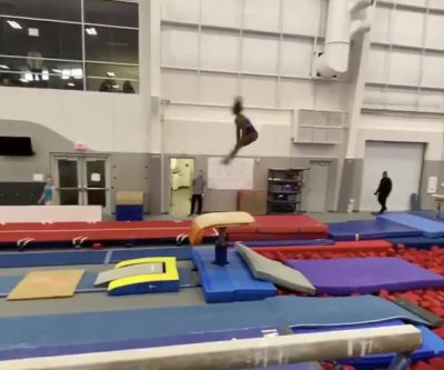 Watch: Gymnast Simone Biles teases groundbreaking flips