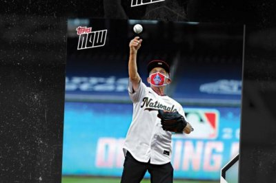 Dr. Anthony Fauci's first pitch baseball card sets Topps record