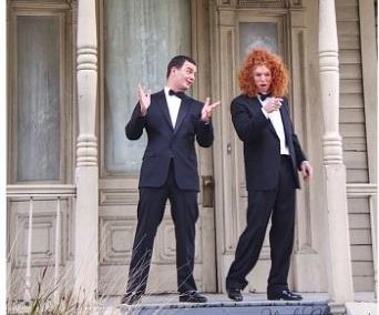 Brian Evans, Carrot Top shoot 'Creature' music video at the Bates Motel