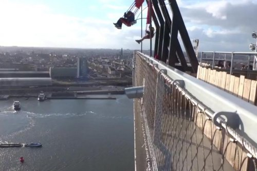 'Edge of the World Swing' suspended 300 feet over Amsterdam