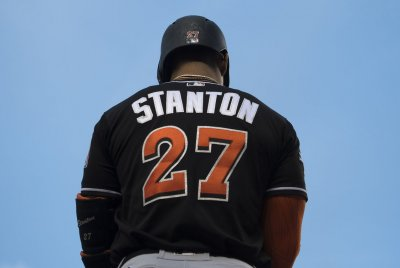 Miami Marlins' Giancarlo Stanton continues MVP pace with 50th homer