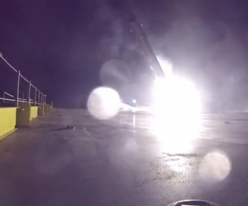 Watch SpaceX nearly land rocket on floating barge