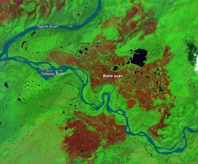 NASA satellite images Alaska's scorched earth