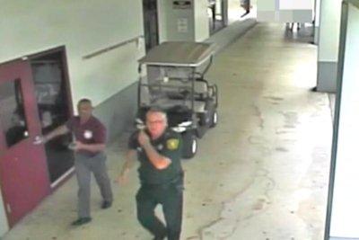 Surveillance video shows events outside Florida school shooting